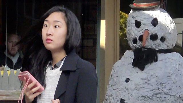 Scary Snowman Hidden Camera Practical Joke – Providence Rhode Island (2016) Episode 6