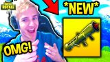 NINJA REACTS TO *NEW* GUIDED MISSILE LAUNCHER! Fortnite SAVAGE & FUNNY Moments