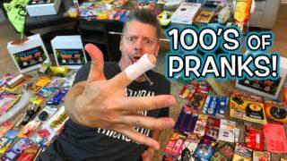 HUNDREDS of Gag PRANKS!!  **Unboxing & Pranking!**