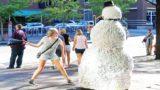 Scary Snowman Hidden Camera Practical Joke  US Tour 2016 * Over 100 Reactions