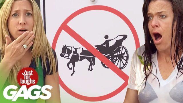 Criminal Horses, Rocket Launchers, & Wet T-Shirts | JFL Throwback Pranks