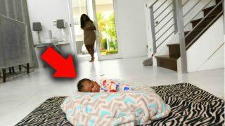 LEAVING BABY HOME ALONE PRANK ON GIRLFRIEND !!!