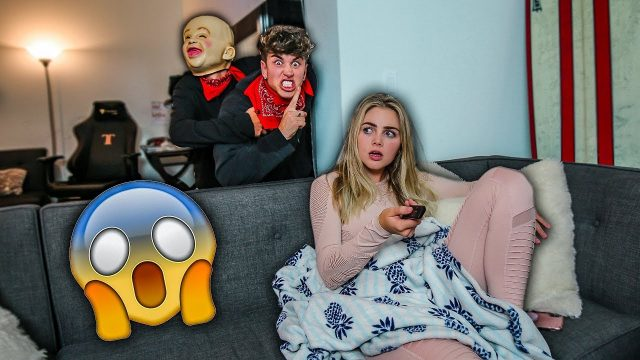 HOME INVASION PRANK ON GIRLFRIEND! *SHE CRIED*