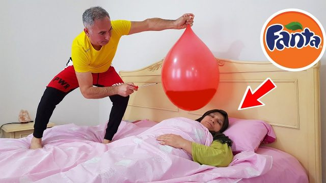 BALLOON İN FANTA PRANK !! Terrible Joke in Bed