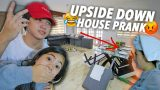 UPSIDE DOWN HOUSE PRANK ON PARENTS! | Ranz and Niana