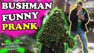 YOU GOTTA SEE THIS!! Bushman Scare Prank – FUNNY!!