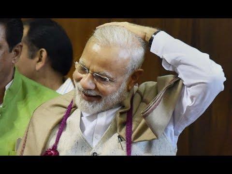 PM Narendra Modi's great sense of humor. Best funny speeches about  recent development in 2017