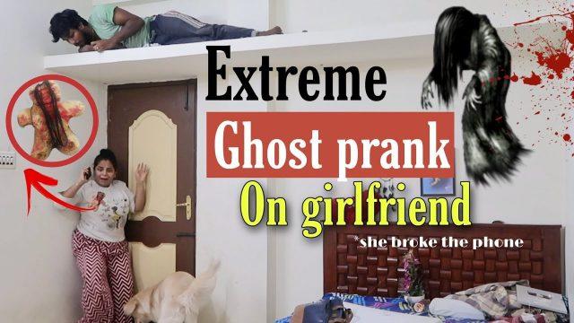 Scary ghost prank on Girlfriend   Epic Dangerous prank   Ram with Jaanu prank   Prank war tamil